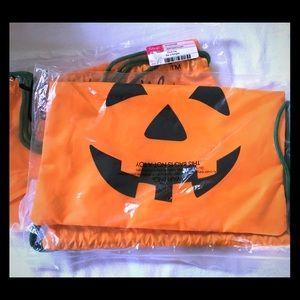 NIP 31 Pumpkin Cinch Sacks - 2 available